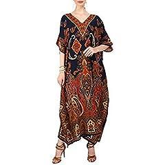 1b02d600502a Miss Lavish London Women Kaftan Tunic Kimono Free Size Long M ..