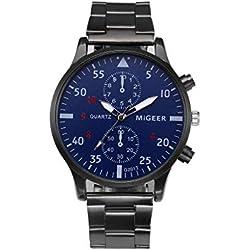 Montre CURDDE Water Ghost 6582 Smart Watch Quartz Intelligente Horloge Bracelet en Général de la Mode Cadeaux d'anniversaire avec air Libre (Black 1)
