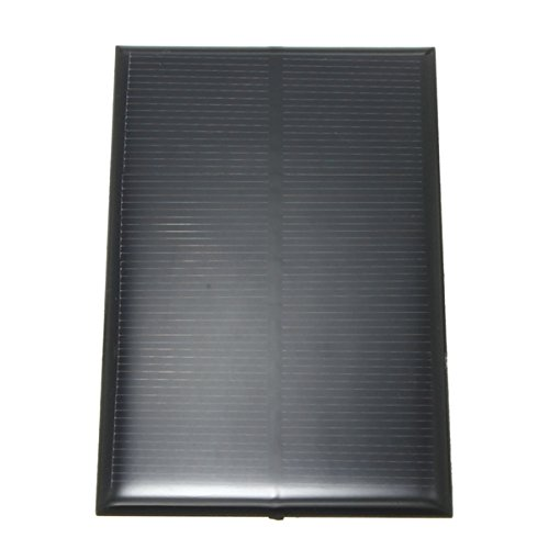Descripción: 5V1.25W Panel Solar de 250mA Alta tasa de conversión, salida de alta eficiencia Excelente efecto de luz débil Adecuado para cargar teléfonos móviles y baterías pequeñas de DC Construir tu DIY alimentado modelos, pantalla solar y juguetes...