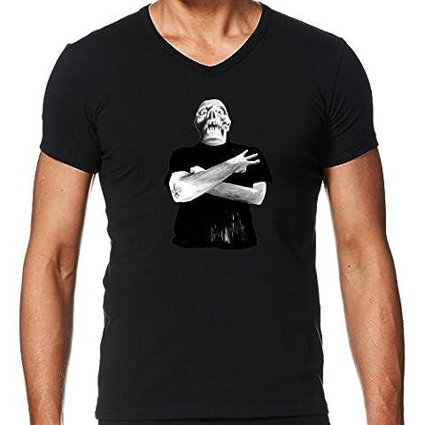 Camiseta V Cuello para Hombre - Recortar Tres! by zombierust