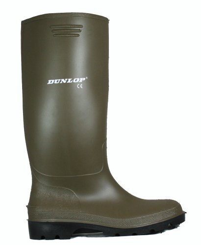MENS GREEN QUALITY DUNLOP RUBBER WELLINGTONS WELLIES 6-12 UK ONLY £6.95