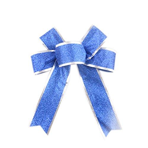 qhgstore-princess-glitter-metallic-band-fur-tanz-cheerleader-haar-bogen-geschenkverpackung-blau