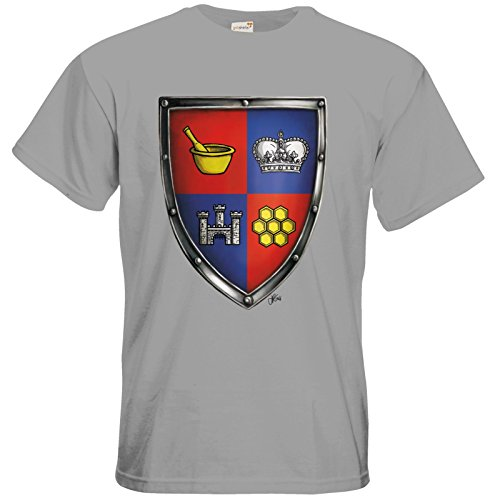 getshirts - Das Schwarze Auge - T-Shirt - Die Siebenwindküste - Wappen - Honingen pacific grey