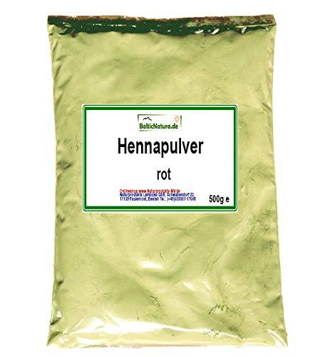 Pulver-haarfarben (Henna Pulver rot (500 g) Hennapulver Haarfarbe natürliche Haarpflege)