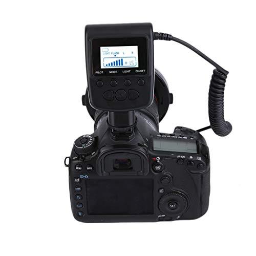 Flash-ad-anello-LED-Macro-HD-130-per-Canon-per-illuminazione-senza-ombre-morbida-Nikon-con-8-adattatori-Accessorio-moda-portatile-Colore-mix