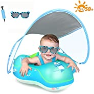 Premium Baby Swimming Float Inflatable Baby Pool Float Ring 2020 Newest with Removable Sun Protection Canopy U