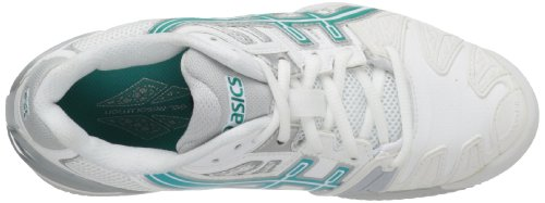 Asics , Damen Tennisschuhe White/Aqua Green/L