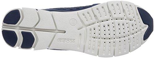Geox D Sukie A, Baskets mode femme Bleu (Denimc4008)