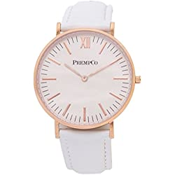 Prempco - Nobel - Ladies Watch - Ivory White - Rose Gold - Quick Change Watch Wrist Band, White