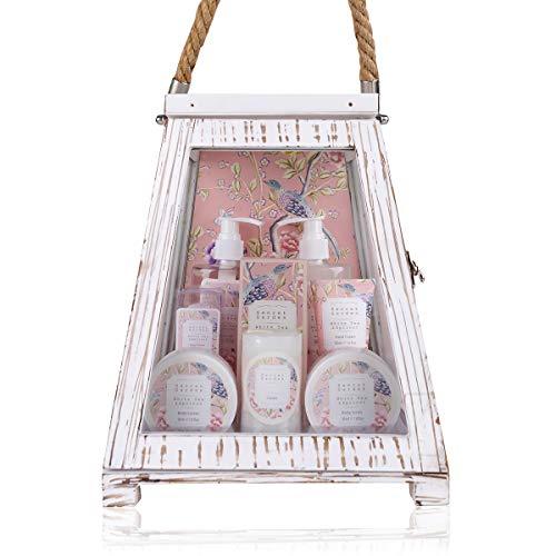 Accentra Geschenkset Secret Garden Bade Und Dusch Set Mit White Tea & Apricot Duft - 11-Teiliges Geschenk-Set