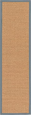 Modern 2-Feet by 10-Feet (2' x 10') Runner Sisal Light Brown Contemporary Area Rug