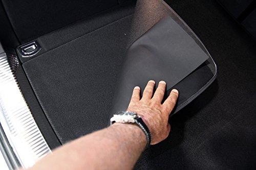 tuning-art 2914 2 pi/èces Tapis de Coffre en Velours avec Protection de seuil de Chargement Noir