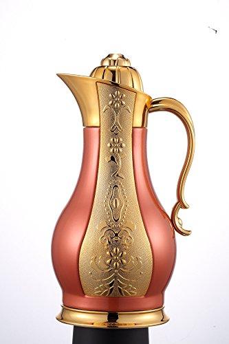 Sumerflos® 34oz Dispenser per bevande, corpo in acciaio inox termica Caraffa per caffè/caffettiera/teiera con coperchio/termica 1litro
