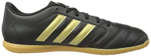 adidas Herren Gloro 16.2 indoor Fußballschuhe Schwarz (Core Black/Gold Metallic/Core Black)