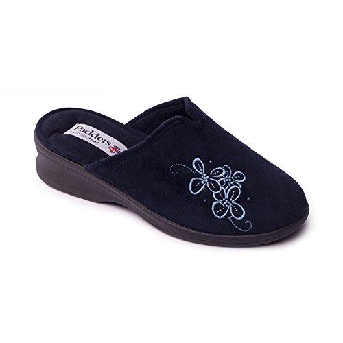 scarpa Padders donne 'Sable' | Extra grande larghezza di EE | 40 millimetri tallone | calzascarpe libero Marina Militare