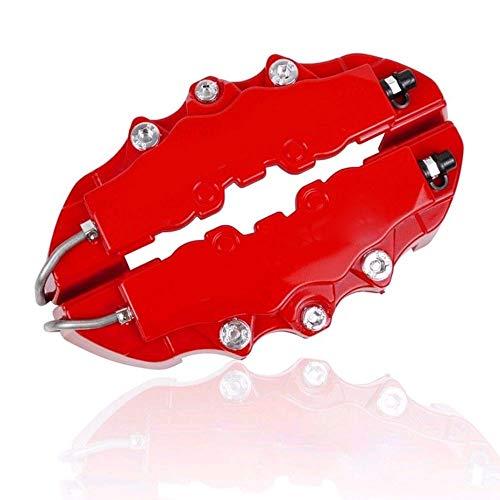 Gallocabe 4 pezzi Kit pinza freno rosso Copri pinza freno universale per disco anteriore e posterio