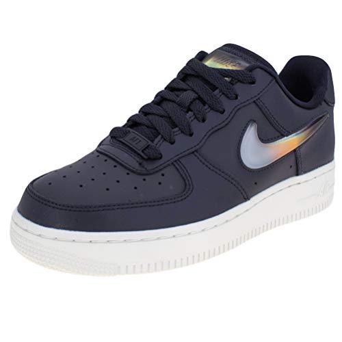 Nike Damen W Air Force 1 '07 Se PRM Basketballschuhe, Mehrfarbig (Oil Grey/Bright Crimson/Obsidian Mist 004), 42.5 EU - Obsidian-basketball-schuh