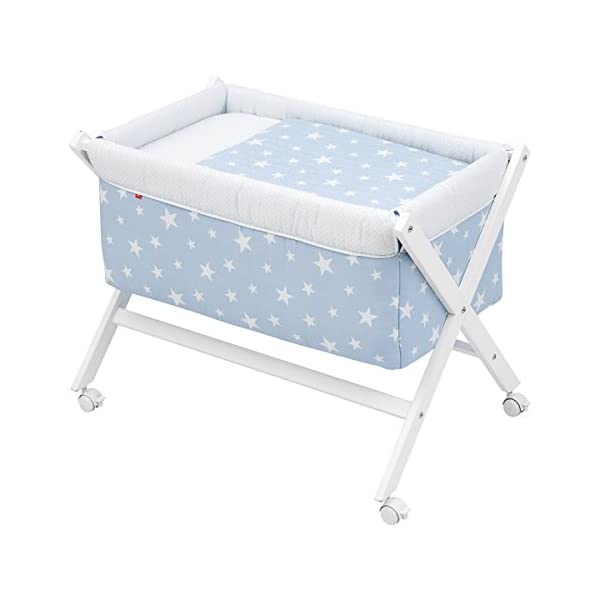 Cambrass Be Universe Small Bed X Wood, 55 x 87 x 74 cm, Une Blue   1