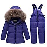 Enfant Combinaison de Ski avec Veste, Doudoune à Capuche + Pantalon de Ski Bébé...