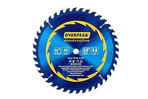 overpeak 25,4cm 40dents Lame de scie circulaire pour bois et composite en bois avec 5/8Arbor