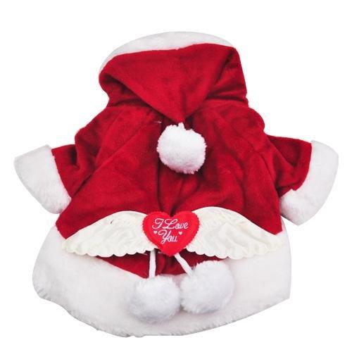 Beyondfashion New Pet Dog Puppy Santa Anzug klein Weihnachtsmann Coat Pet Weihnachts ()
