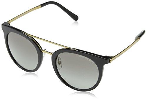 Michael kors ila 326911 50 occhiali da sole, nero (black/gradient), donna