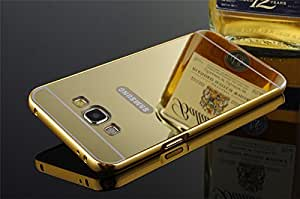 MobiDoc Branded Luxury Metal Bumper + Acrylic Mirror Back Cover Case For Samsung Galaxy ON7