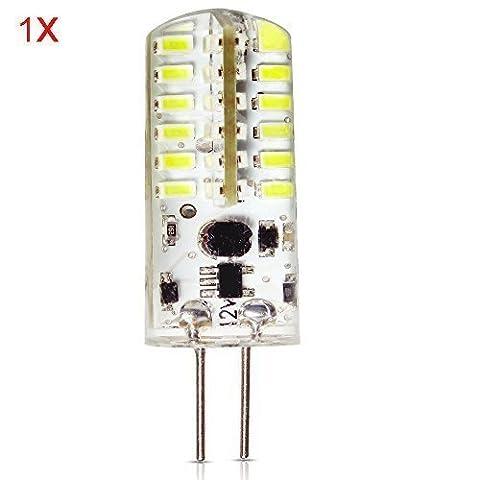 ELINKUME 3W Ampoule LED, 30W Ampoule Halogène Équivalent 220-250LM Sportlight Blanc Froid, 6000K, Ampoule Lampe G4, AC/DC12V, Culot G4