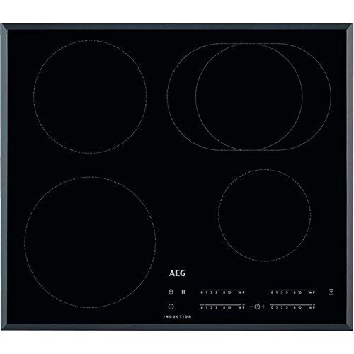 AEG IKB64411FB Autarkes Kochfeld / Induktion / Hob²Hood / Slider-Bedienung / 60 cm / Facetten-Design / 4 Kochzonen / Powerfunktion / Kindersicherung