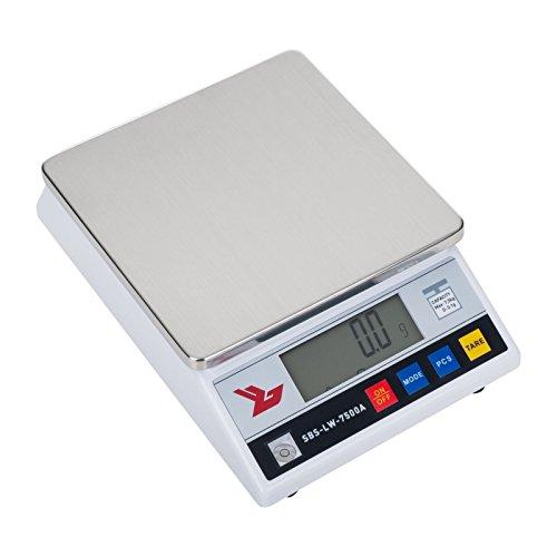 Balanza de precisión 7500 g y precisión de 0,1 g económica  La Balanza de precisión Steinberg Systems SBS-LW-7500A tiene un rango de medida hasta 7500 g con una precisión de 0,1 g. Proviene de la combinación de módulos técnicos controlados y precisos...