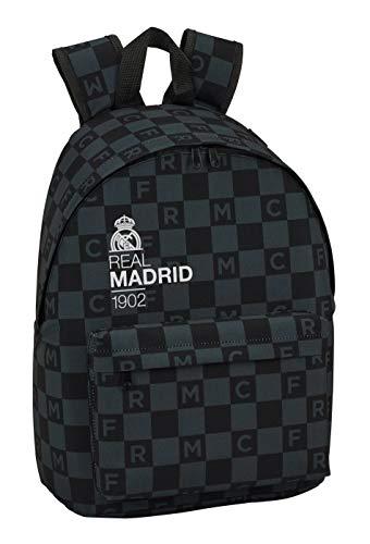 Real Madrid 2018 Kinder-Rucksack, 41 cm, Schwarz (Negro)