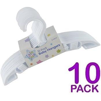 Cintre Pour Vêtements Enfant Bébé x 10 - Plastique Résistant Blanc