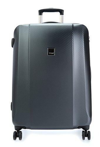 Travelite Valise à Roulette Kendolite avec 4 Roues, 76 cm, 97 L, Noir
