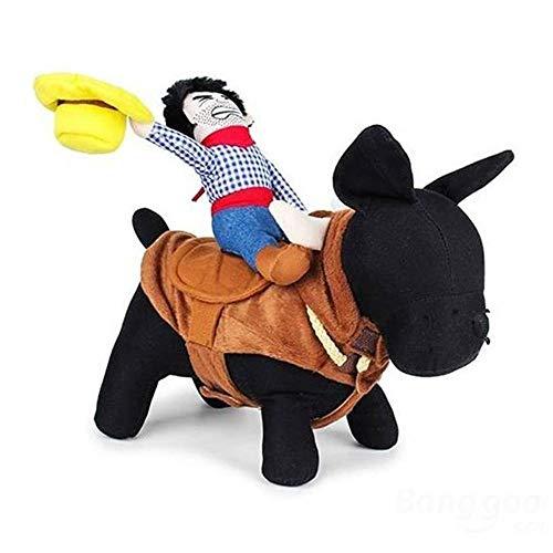 AUOKER Cowboy-Kostüm, stereoskopisches Hunde-Kleidung/Kleidung/Bekleidung – einfach zu tragen, -