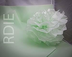 24 feuilles de papier de soie Pistache, 50x75cm, 18 grs