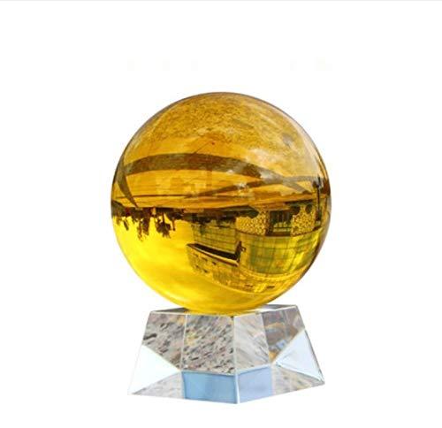 WDDqzf Skulptur Figur Dekoration Statuen 10 cm Fotografie Kristallkugel Ornament Fengshui Globus Divination Quarz Magische Glaskugel Für Home Office Hochzeit Decor Kugel - Quarz-kristall-globus