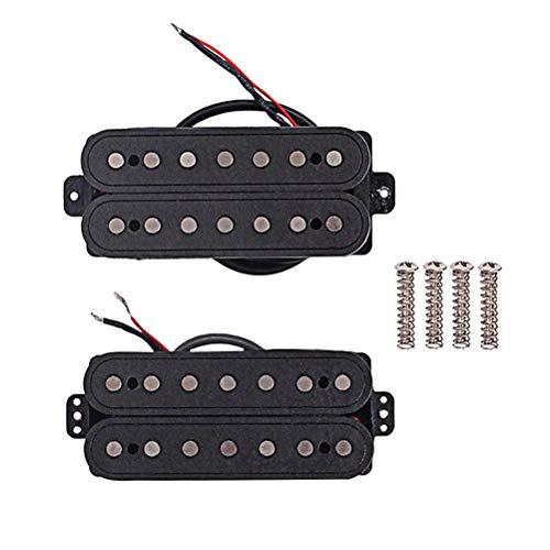 LIOOBO 1 Set 7 Saiten Fiber alnico v-Ausschnitt und brücke Gitarre Pickup humbucker Pickup Teile zubehör