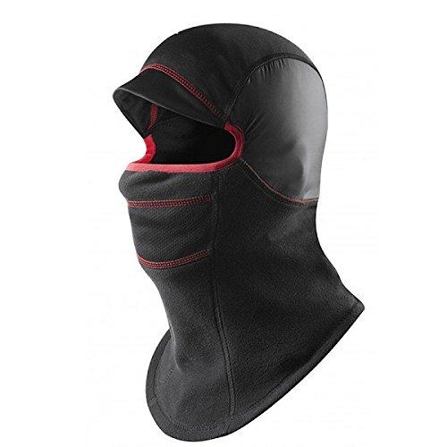 Inovey Capas Dobles Engrosar La Cara Caliente Cubierta Completa Máscara De Esquí Unisex De La Motocicleta De Lana Cs Hat-Negro