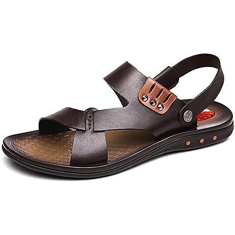 sandali degli uomini/sandali in pelle/Il primo strato di scarpe estive