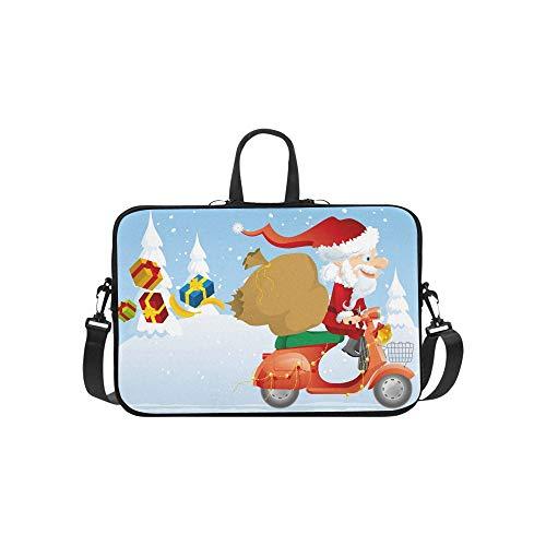 Santa Scooter Aktentasche Laptoptasche Messenger Schultertasche Crossbody Handtasche für Geschäftsreisen - Roller-schnee-kette