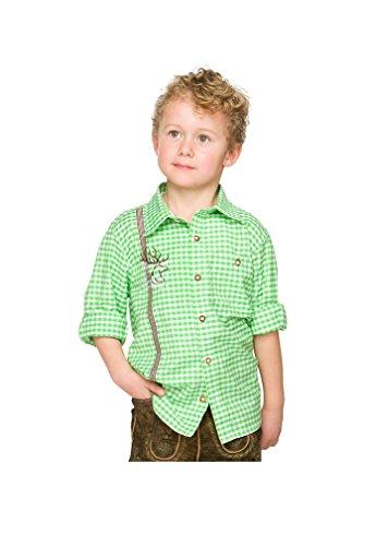 Stockerpoint - Kinder Trachten Hemd Leo, Gr. 122-152, Farbe:Grün, Größe:158/164