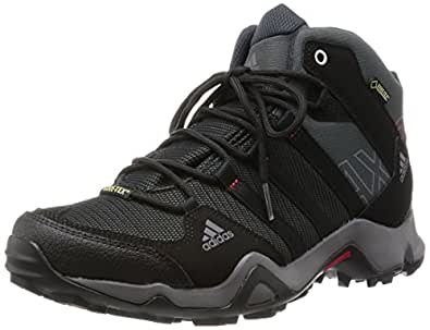 adidas AX2 Mid GTX, Men's High Rise Hiking Shoes,  Gris (dark Shale/black 1/light Scarlet) - 40 2/3 EU