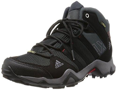 Adidas - Ax 2.0 Mid Gtx, Scarpe Da Trekking da uomo, grigio (dark shale/black 1/light scarlet), 42 2/3