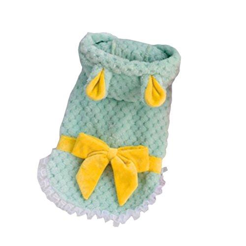 Baoblaze 1x Klassisch Haustier Sweater Strickpulli Winter Pulli Hoodie Jumpsuit Strickjacke für Haushund und Hauskatzen - Grün M