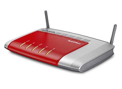 AVM Fritz Box 3272 International, WLAN-Router (ADSL, 450 MBit/s, Annex A + B, 2 x Gigabit-LAN, USB 2.0) rot