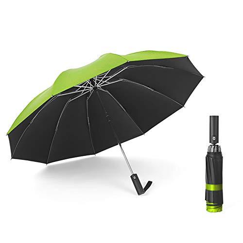 LYJZH Regenschirm - robust, windsicher und sturmfest, windfester Taschenschirm Schwarzer Kunststoff Automatikschirm Faltregen Farbe12 103cm