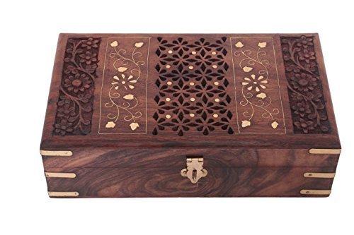 Wooden Jewelry Box, Net Design with Inlay Work storage Box, Keepsake Box,Gift for Christmas or Birthday