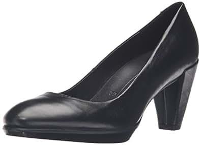 Ecco Shape 55 Plateau Stack, Escarpins Femme, Noir (Black), 38 EU