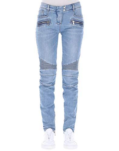 Balmain Femme 145487D002C3145 Bleu Claire Coton Jeans Balmain