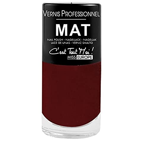 VERNIS A ONGLES-PROFESSIONNEL-MAT-12 COLORIES DIFFERENTS-TOP VENTE PSYCHIC-157 SEXY RED